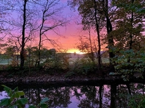 Fall sunrise in Perry County Pa  x