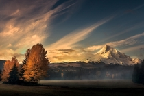 Fall Sunrise in the Mt Hood National Forest region