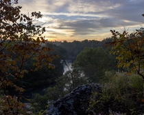 Fall Sunrise over Shoal Creek Missouri