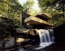 Fallingwater house designed by Frank Lloyd Wright in  Pennsylvania
