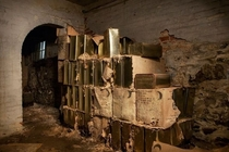 Fallout shelter supplies sitting beneath Taunton State Hospital