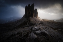Famous Tre Cime looks straight out Lord of the Rings