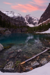Far away from the crowds this is Lake LeFroy in Yoho National Park British Columbia