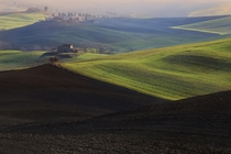 Farm on the Hill in San Quirico dOrcia Italy  by Mauro Maione