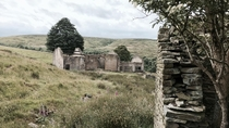 Farmhouse ruins in West Yorkshire England