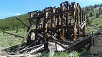 Farwell stamp mill Independence Pass settlement CO