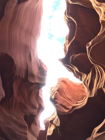Fascinating rock structures at Lower Antelope Canyon National Park