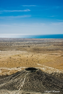Fascinating View Of a Mud Volcano With Arabian Sea In The Background  Balochista Pakistan  By Majid Hussain