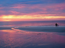 Father and daughter sunrise Amelia Island FL