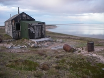 Father Buliards abandoned cabin Buliard Lake the Back River Nunavut Canada