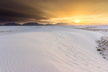 Faux Winter Scene - White Sands National Monument during early Summer