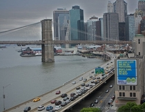FDR Drive and the Brooklyn Bridge- Manhattan