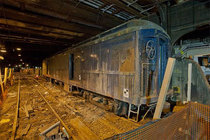 FDRs Secret Armored Train Car that helped him keep his Polio secret Hidden beneath the Waldorf-Astoria platform in NYC and is still there MIC