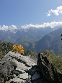 Feeling like a tiny dot in these huge mountains - Tiger Leaping Gorge Yunnan China