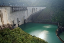 Feitsui Dam on the Beishi River in northern Taiwan