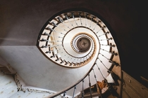 Ferme Du Curlystairs - In rural France they build whatever they please This delightful spiral staircase is in a confusing house currently being used as a barn  More in comments