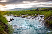 Few times have I caught myself unintentionally jaw dropped This did it Hraunfossar Iceland