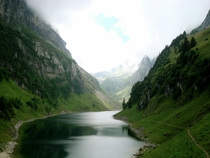 Fhlensee- a beautiful alpine lake in Switzerland