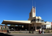 Fiat Tagliero Building in Asmara capital city of Eritrea a Futurist-style service station completed in  designed by Italian architect Giuseppe Pettazzi Pettazzi designed the building to resemble an airplane