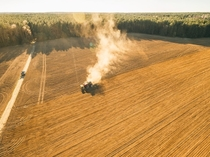 Fields fields fields Picture taken by drone Belarus