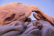 Fiery rock formations at Joshua Tree CA