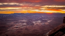 Fiery Sunset at Canyonlands National Park