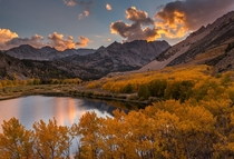 Fiery sunset at the North Lake Eastern Sierras California