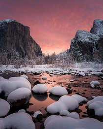 Fiery Yosemite Sunrise