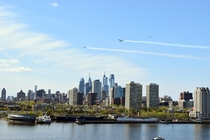 Fighter Jets over Philadelphia
