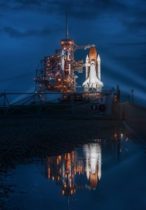 Final night of the space shuttle on the launch pad shot on my th birthday