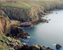 Final resting spot of the RMS Mulheim at Lands End United Kingdom