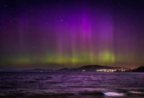 Finally captured the elusive Aurora Australis after  years of living in Tasmania was lucky enough to capture a bit of Bioluminescence on the waves as well