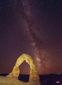 Finally got my Milky Way  Delicate Arch shot