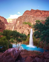 Finally made it to paradise My last adventure before leaving the US Havasupai AZ