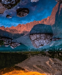 Finding new perspectives in the Dolomites Lago di Sorapis Italy