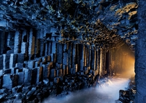 Fingals Cave in the Inner Hebrides of Scotland