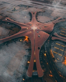 Finished Construction in  the Second Largest Airport in the World Daxing International Airport in Beijing by Zaha Hadid Architects