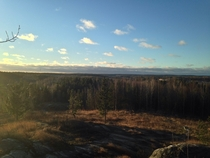 Finland Landscape From Local Hill