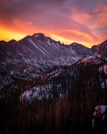 Fire above Longs Peak  Rocky Mountain National Park  IG drewcm