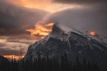 Fire and Ice Sunrise - Mt Rundle Banff Canada  IG _stephenflynn