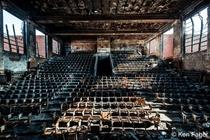 Fire completely destroyed a beloved abandoned auditorium