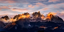 Fire Mountains- Wilder Kaiser Tyrol Austria  by James Mills
