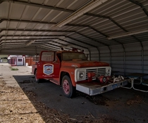 Fire support vehicle at an old Racetrack I visited It was in remarkably good condition OC x