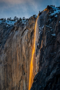 Firefall at Yosemite National Park shot Feb