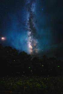 Fireflies - The Milky Way rises over hundreds of fireflies in Amherst MA