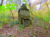Fireplace Deep in the Woods in Ohio Photo by Kathleen Marie uploaded with her permission