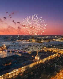 Fireworks in St Petersburg Russia