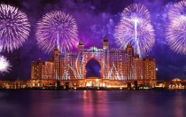 Fireworks over Atlantis The Palm Hotel Dubai