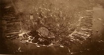 First aerial photograph taken of Lower Manhattan in