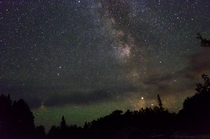 First attempt at capturing the Milky Way We drove  hours from the city to take this picture  Manitoba CA